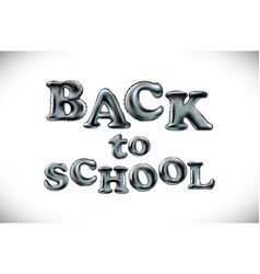 back to school poster with text balloon vector image