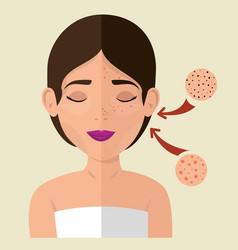 Beautiful woman in treatment facial vector