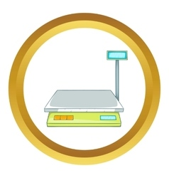 Bench scales icon vector
