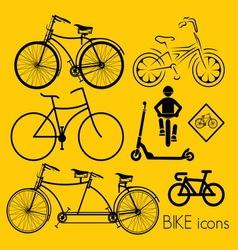 biciklo varijante1 vector image