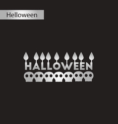 Black and white style icon candle halloween vector