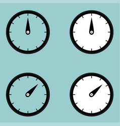 black clock watcher timer icon vector image