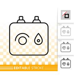 boiler simple black line icon vector image