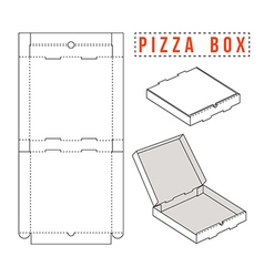 Box for pizza vector