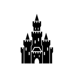 castle symbol icon on white background vector image