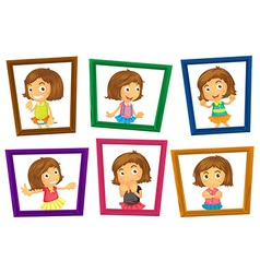 Children and frames vector image