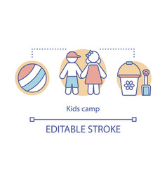 Children kid camp concept icon summer club vector