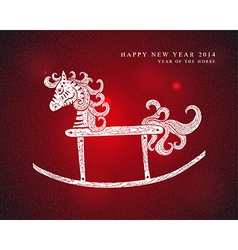Chinese Zodiac New Year of the Horse vector