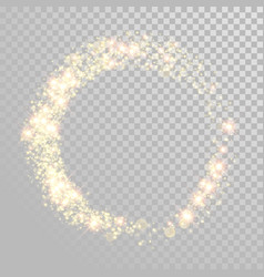 christmas holiday golden glitter circle wave vector image