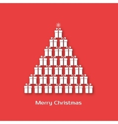 Christmas tree made of gift boxes vector image