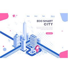 City smart eco system vector