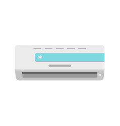 Cold conditioner icon flat style vector