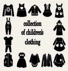 collection of children clothing vector image