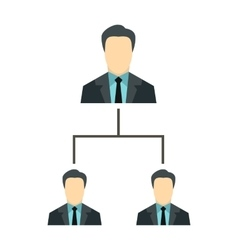 Company structure icon flat style vector