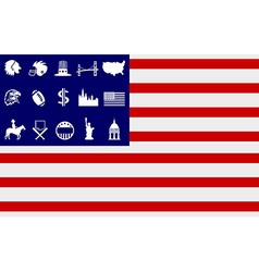 creative american flag icons vector image