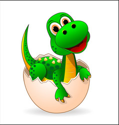 Cute dinosaur-baby vector