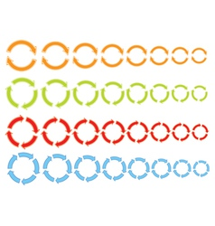 Cycling arrows icons vector