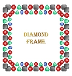 Diamonds square frame vector