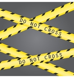Do not cross the line caution tape vector image