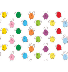 easter seamless pattern bunnies vector image vector image
