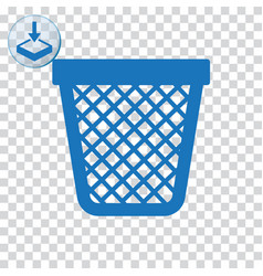 Empty trash icon for web and mobile vector