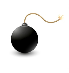 exploding bomb vector image