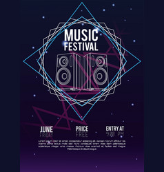 festival music flyer vector image