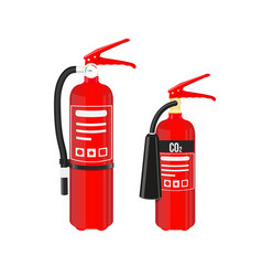 fire extinguishers set isolated on white vector image