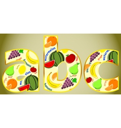 fruit letters vector image