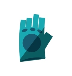Gloves gym equipment isolated icon vector