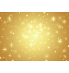 Gold background with stars vector