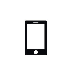 isolated touchscreen icon smartphone vector image
