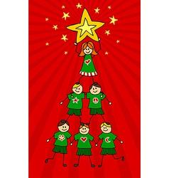 Kids Christmas Tree vector