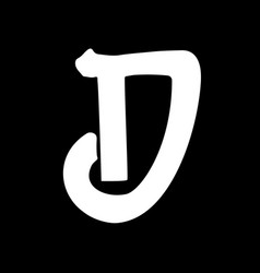 Letter d vintage grunge font label style letter vector
