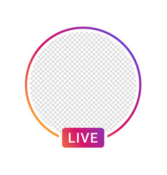 live video streaming icon for social media social vector image