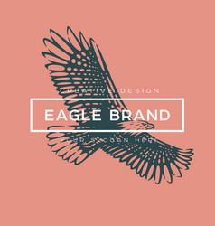 logotype eagle vector image