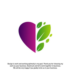 love green creative logo concepts nature heart vector image