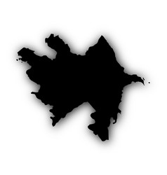 map of azerbaijan with shadow vector image