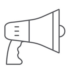 megaphone thin line icon announcement and vector image