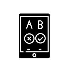 Mobile game black icon concept vector