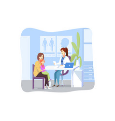 motherhood childhood examination medicine vector image