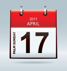 Palm Sunday calendar vector