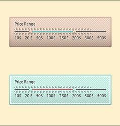 Price range design element vector