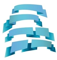 Printdecorative festive ribbons vector image
