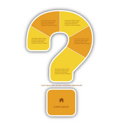 Question mark infographic report template made vector