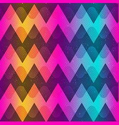 Rainbow color zigzag seamless pattern vector