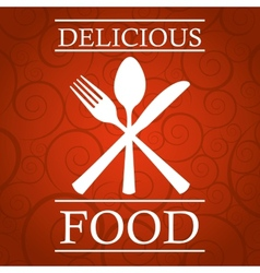 restaurant cover vector image