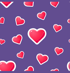romantic seamless pattern with hearts design vector image