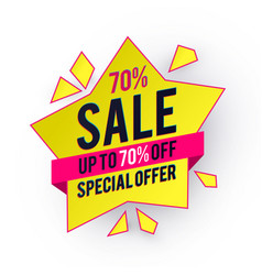 sale banner with star special offer design vector image