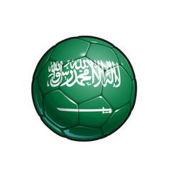 Saudi arabian flag football - soccer ball vector